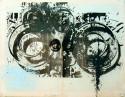 <b>Ojos hidropicos - 100x70 - 1999</b><br>Técnica:  serigrafia (múltiples tintas) sobre papel<br>Edición: pieza única