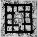 <b>Cárcel - 114x114 cm - 1995</b><br>Técnica: grabado al carborundum sobre papel entelado<br>Edición: pieza única