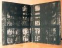 <b>Cárceles del alma - 30x40 cm (x2) - 1998</b><br>Características: libro- objeto de una sola página (díptico) con cubiertas de hierro y terciopelo <br>Técnica: grabado al aguatinta a 2 tintas sobre papel encolado