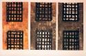 <b>Cárceles del alma - 48x89 cm (x3)- 1996</b><br>Técnica:grabado al carborundum a 2 tintas y collage sobre papel<br>Edición : pieza única