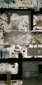 <b>Ausencias - 50x100 cm - 1999</b><br>Técnica: grabado al carborundum, serigrafia (mltiples tintas) y collage sobre papel<br>Edición : pieza única