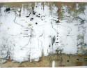 <b>Sin título - 100x70 - 2005</b><br>Técnica: serigrafia a 6 tintas sobre cristal y fieltro manchado<br>Edición: pieza única