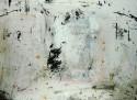 <b>Sin título (mesa) - 100x70 - 2003</b><br>Técnica: serigrafia sobre aglomerado manchado<br>Edición: pieza única