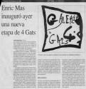 <b>4 Gats 2 - 1993</b><br>Cristina Ros para Ultima Hora del 13 de agosto de 1993